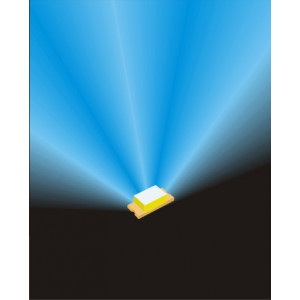 LED0402 blauw 4 stuks