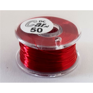 DC-Car enamel wire red 50m