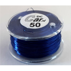 DC-Car enamel wire blue 50m