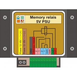 Memory relais with 5 Volt...