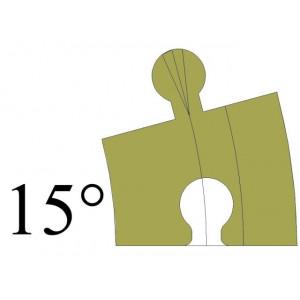 H0 15 Standaard Bocht 15º...