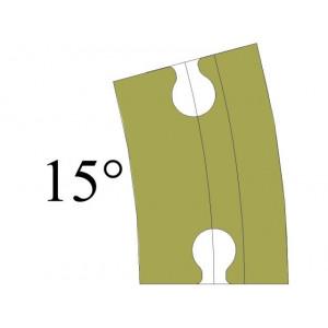 Standard curve 15º...
